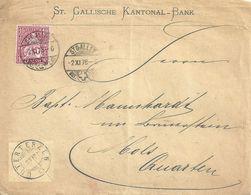 "Motiv Brief  ""St.Gallische Kantonal-Bank""              1878 - Brieven En Documenten"