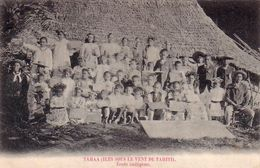 TAHITI-TAHAA(ILES SOUS LE VENT )ECOLE INDIGENE-CARTOLINA ANNO 1900-1904 - Tahiti