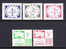 Jersey 1969 Taxe N°1,2,3,4,6  Neufs* 4 € (cote 63 € En N** 5 Valeurs) - Jersey