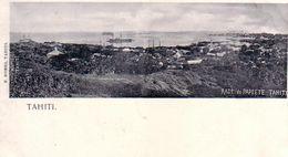 TAHITI-RADE DE PAPEETE-CARTOLINA ANNO 1900-1904 - Tahiti