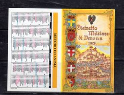 Distretto Militare Di Verona 1870 - 1998 - - Calendars