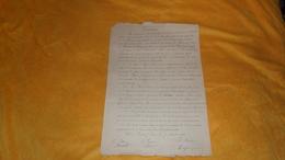 LETTRE  OU DOCUMENT ANCIEN DE 1889. / CONVENTION. / FAIT A BRION SUR OURCE. - Old Paper