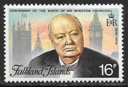Falkland Islands, Scott # 235 Mint Hinged Churchill, 1974 - Falkland Islands
