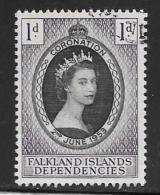 Falkland Islands Dependencies, Scott # 1L18 Used Coronation, 1953 - Falklandeilanden