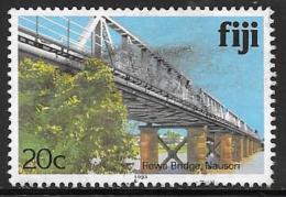Fiji Islands, Scott # 418b Used Rewa Bridge, 1993 - Fiji (1970-...)