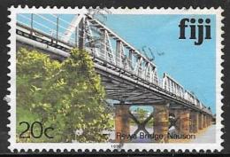 Fiji Islands, Scott # 418k Used Rewa Bridge, 1992 - Fiji (1970-...)