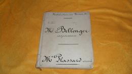 DOSSIER DOCUMENT ANCIEN DE 1865 DE 80 PAGES PEUT ETRE INCOMPLET ?. / HOTEL A PARIS. FEUILLES VELINS. CACHETS TIMBRES IMP - Manuscripts