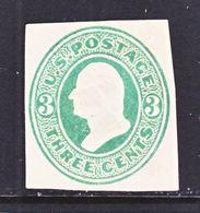 US CUT  SQUARE U  163   *   1874-88  ISSUE - Postal Stationery