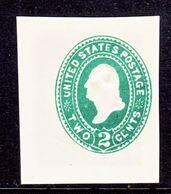 US CUT  SQUARE U  311   *   1887-94  ISSUE - Postal Stationery