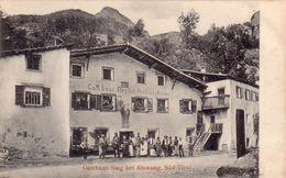 ATZWANG-CAMPODAZZO-BOZEN-BOLZANO-GASTHAUS STEG BEI ATZWANG-SUD TIROL-CARTOLINA ANNO 1906.1910 - Bolzano (Bozen)
