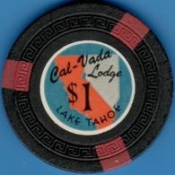 $1 Casino Chip. Cal-Vada Lodge, Lake Tahoe, NV. 1948. K82. - Casino