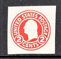 US CUT  SQUARE  U 429    DIE I    *   1915  ISSUE - Postal Stationery