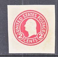 US CUT  SQUARE  U 429 D    DIE 5    *   1915  ISSUE - Postal Stationery