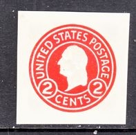 US CUT  SQUARE  U 429 E    DIE 6    *   1915  ISSUE - Postal Stationery