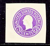 US CUT  SQUARE  U 437 C    DIE 6  AMBER  *   1915-32  ISSUE - Postal Stationery