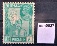 Mm0027 Sieg Der Alliierten Im WWII, Mann Aus Burma, Landkarte, Burma 1946 ** - Myanmar (Burma 1948-...)