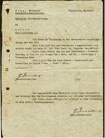 Versailles 1941 : Wehrmachtsangesten-Antrag + Befürwortung : Höhergruppierung In Die Nächshöhere Vergütungsgruppe - Historical Documents
