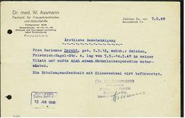 Zwickau 1948  -  Facharzt  -  Ärztliche Bescheinigung Mit Befürwortung Eines Erholungsaufenthalts - Historical Documents