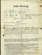 Zwickau 1929  -  Lehr-Vertrag Bei Rohstoffgenossenschaft F. D. Maler- Und Lakierer-Gewerbe - Historical Documents
