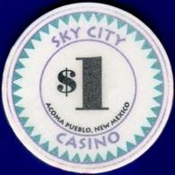 $1 Casino Chip. Sky City, Akoma, NM. K85. - Casino