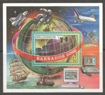 BARBADOS   2000  MILLENIUM SOUVENIR SHEET  MU -MNH - Barbados (1966-...)