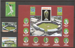 BARBADOS 2007  Cricket World Cup  Set Of 3 + Souvenir Sheet  UM - MNH - Barbados (1966-...)