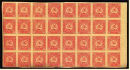 1919 - Bogenteil Mit 32 Briefmarken Georgien / La Georgie - Mi. Nr. 4 B Ungezähnt - Georgien