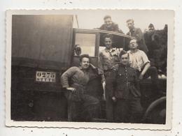 Militaires Devant Camion - Photo Originale Format 6 X 9 Cm - Photo Arphobel, Chaussée De Ninove - War, Military