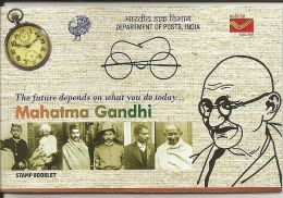 Mahatma Gandhi Father Of Nation, Stamp Booklet,Content 10 Gandhi Mint Stamp,By India Post  As Per Scan , - Buddhism