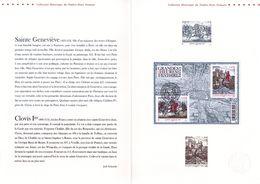 """"""" HISTOIRE DE FRANCE : STE GENEVIEVE - CLOVIS Ier """" Sur Document  Officiel De 4 Pages De 2012 N°YT F4704. Parf état. DPO - Documentos Del Correo"""