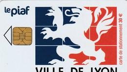 CARTE DE STATIONNEMENT  LE PIAF..VILLE DE LYON. - France
