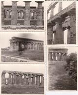 5 MINI-PHOTOS---ITALIE--PAESTUM---temple De Neptune--voir 1 Scans - Places