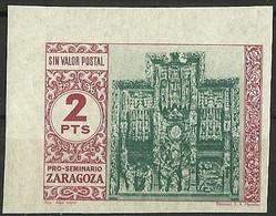 ESPAÑA GUERRA CIVIL PRO-SEMINARIO ZARAGOZA.** MNH - Verschlussmarken Bürgerkrieg