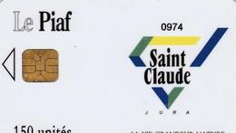 CARTE DE STATIONNEMENT  LE PIAF...ST-CLAUDE - France