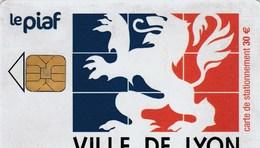 CARTE DE STATIONNEMENT  LE PIAF...VILLE DE LYON - France