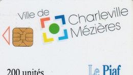 CARTE DE STATIONNEMENT  LE PIAF...VILLE DE CHARLEVILLE MEZIERES - France