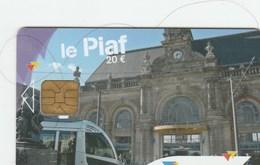 CARTE DE STATIONNEMENT  LE PIAF..VALENCIENNES - France