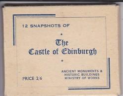 12 MINI-PHOTOS--ECCOSE--THE CASTLE OF EDINBURGH---voir 4 Scans - Places
