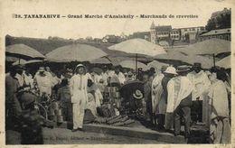 TANANARIVE  Grand Marché D' Analakély Marchands De Crevettes Recto Verso - Madagascar