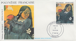 Enveloppe  FDC  1er  Jour    POLYNESIE   Oeuvre  De   GAUGUIN    1984 - FDC