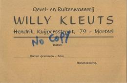 Mortsel : Willy Kleuts : Gevel- En Ruitenwasserij - Mortsel