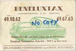Mortsel :  Beneluxtax ( TAXI MERCEDES )  2 Scans ( 12 X 7.7 Cm ) Autocars - Mortsel