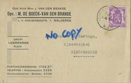 Malderen - Londerzeel : Ijzerwaren : Oud Huis Van Den Brande ( 2 Scans ) - Londerzeel