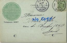 Gentbrugge : Cartonage Industriel : J. Vercammen : 1911  ( 2 Scans ) - Gent
