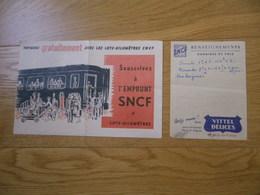 SNCF Ensemble Deux Documents : Souscrivez à L'emprunt Voyagez Gratuitement En Train 1951 - Prospectus - Transport