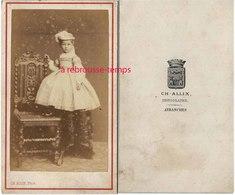 CDV Jolie Fillette-mode Enfant-photo Ch. Allix Photographe à Avranches - Old (before 1900)