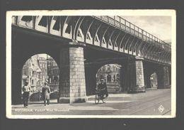 Rotterdam - Viaduct West Nieuwland - Geanimeerd - Fietser - Rotterdam