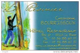 Le Résinier Gemmeur Résine Carte De Visite Pin Maritime Des Landes LE BARP Gemme Gemmage - Visiting Cards