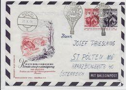 AUTRICHE - BALLONPOST - 1951 - ENVELOPPE ENTIER POSTAL Par BALLON De SALZBURG - Balloon Covers