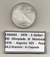 Canada - 1976 - 5 Dollari - XXI^ Olimpiadi Di Montreal Del 1976- Argento 925 - Peso 24,3 Grammi - In Capsula - (MW1153) - Canada